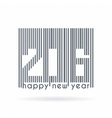 label to the new 2016 as barcode vector image vector image