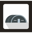 Large hangar icon flat style vector image vector image