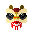 lion dance head chinese graphic vector image