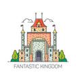 magic castlecartoon fantastic kingdom fort vector image