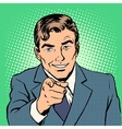 Man pointing finger vector image vector image