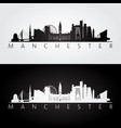manchester skyline and landmarks silhouette vector image vector image