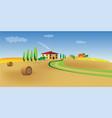 mediterranean landscape vector image vector image