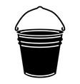 metal bucket icon simple style vector image vector image
