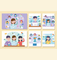 network social media people collection vector image