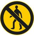 no man sign enter prohibition sign vector image vector image