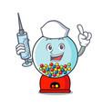 nurse gumball machine character cartoon vector image vector image