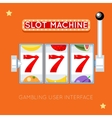 Online slot machine gambling user vector image vector image