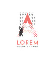 pa modern logo design with gray and pink color vector image vector image