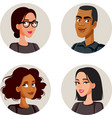 people avatars set collection vector image