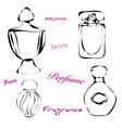 Perfume bottles vector image