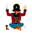 pirate yoga filibuster yogi buccaneer relaxation vector image vector image