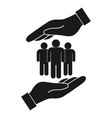 safe people in hand vector image
