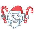 santa with candy volley ball character cartoon vector image vector image