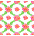 seamless wallpaper with rose and green bruhches vector image vector image