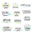 set spring lettering vector image