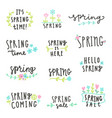 set spring lettering vector image vector image