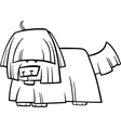 shaggy dog cartoon coloring page vector image vector image