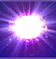shining banner explosion with particles vector image vector image
