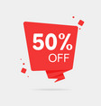 special offer sale red tag 50 off isolated vector image vector image