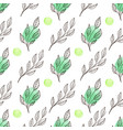spring floral seamless pattern with leaves vector image vector image