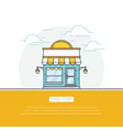 storefront in flat style vector image vector image