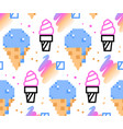 Summer ice-cream seamless pattern