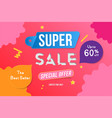 super sale color banner template design with vector image vector image