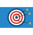 target with 3 arrows vector image