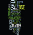 teacher websites a student s perspective text vector image vector image