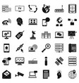 telecommunication icons set simple style vector image vector image