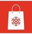 The shopping bag icon vector image