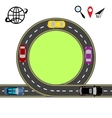 Travel via navigation Abstract highway road vector image vector image