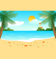 tropical beach landscape template vector image vector image