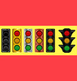 various of traffic light design vector image vector image
