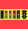 various traffic light design vector image vector image
