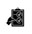 voting black icon sign on isolated vector image vector image