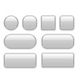 white buttons chrome frame 3d realistic web glass vector image
