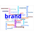 word cloud brand vector image vector image
