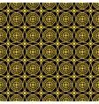Seamless golden pattern vector image