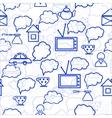 speech bubbles background vector image