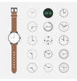 Watch face set vector image