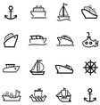 Boat Icons vector image