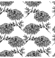 Seamless pattern with drowing chrysanthemum flower