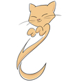 abstract cat with smile vector image vector image