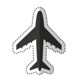 airplane flying isolated icon vector image vector image
