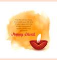 artistic diwali background with diya and orange vector image vector image