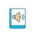 audiobooks rgb color icon vector image