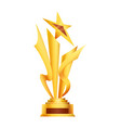 award or trophy cup triumph sport prizes on first vector image