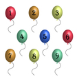 birthday balloons in 3D vector image vector image